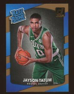 2017-18 Donruss Jason Tatum Rated Rookie RC #198 Boston Celtics Rookie Card