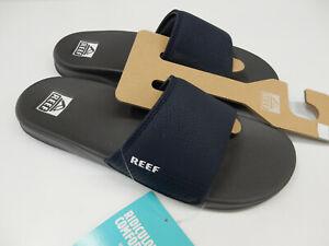 Reef Mens One Slide Navy White 10