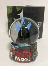 More details for wicked the musical snow glitter globe light up muiscal defy gravity rare 2017