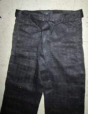 TWENTY ONE 21 Linen Executive Secretary STRIPE WIDE LEG PANTS Jrs Sz SMALL BLACK