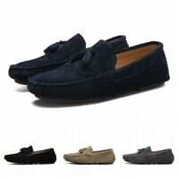 Mens Tassel Breathable Slip On Loafers Casual Moccasin Round Toe Driving Shoes