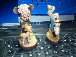 Donald Duck Mickymaus Holzgeschnitzt Fa. Anri Disney Top