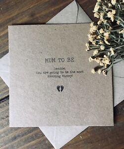 Personalised Mum To Be Card ~ rustic, Maternity Leave ~ Baby Shower ~ Keepsake