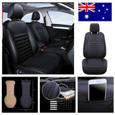 AU Black PU Leather Car Seat Cover Front Seat Cushion Mat Protector Breathable
