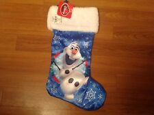 """Disney Frozen Olaf Aurora Frost 18"""" Christmas Stocking For 3+ Ages NEW"""
