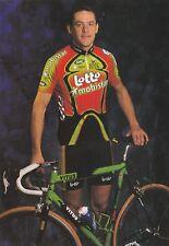 CYCLISME carte cycliste JACKY DURAND équipe LOTTO MOBISTAR 1999