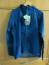 SALOMON Bonatti Pro Waterproof Lightweight Hooded Jacket - Size XL - Blue - BNWT