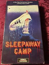 RARE! OBSCURE HORROR! VIDEO TREASURES! Sleepaway Camp (1983 VHS) SHIPS NOW!
