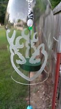 Browning Logo Hunting Wine Bottle Wind Chime w/Logo of Love Symbol Engrave