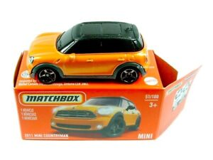 2021 MATCHBOX / #51 2011 MINI Countryman (Metallic Orange) / HERITAGE BOX.