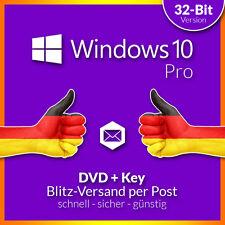 Microsoft Windows 10 Professional 32 Bit DVD und Key für OEM Deutsch