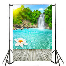 Mountain Waterfall Lake Vinyl Photography Props 3x5ft Backdrop Background