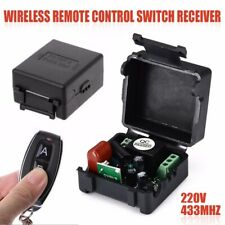 AC220V 10A 1CH RF 433MHz Wireless Remote Control Switch Receiver+Transmitter