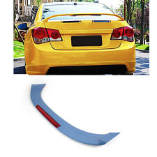 Unpainted Trunk Boot Spoiler Wing W/LED Light Fit For Chevrolet Cruze 11-14