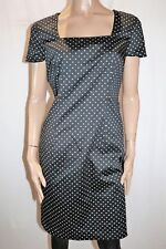 City Dressing Target Black White Spotted Short Sleeve Dress Size 14 BNWT #SD98