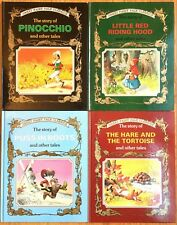 Great Fairy Tale Classics Lot 4 Pinocchio Little Red Riding Puss Boots Hare VGC