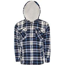 Mens Lumberjack Fur Fleece Lined Padded Shirt Flannel Work Warm Thick Top Jacket