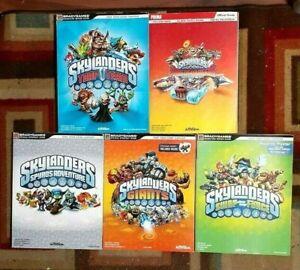 Skylanders Spyro/Giants/Swap Force/Trap Team/Superchargers  Strategy Guide Lot