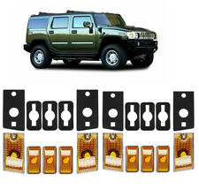 10x Top Roof Cab Marker Light Amber Cover Lens for 2003-2009 Hummer H2 SUV SUT