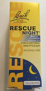 Bach Rescue Night - Flower Essences - Remedy Drops - 10ml - Long Expiry Date