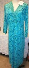 NEW NWT Bob Mackie WEARABLE ART DRESS SIZE MEDIUM Turquoise Blue and Green