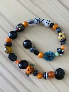 30 mixed strand HALLOWEEN LAMPWORK Glass Beads - ASSORTED AS PICTURED
