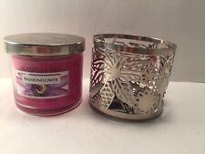 Slatkin & Co Bath & Body Works Passion Flower 4 Oz Single Wick Candle & Sleeve