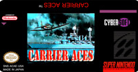 Carrier Aces Super Nintendo Snes Cleaned & Tested Authentic