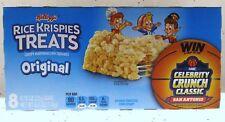 Rice Krispies Treats Original (8 Bars) Kelloggs Crispy Marshmallow Eight Squares