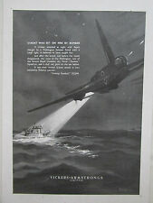 8/1944 PUB VICKERS ARMSTRONGS WELLINGTON BOMBER RCAF CANADA U-BOAT DAVIES AD