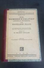Antikes Buch - Die Homosexualität - Havelock Ellis - 1924