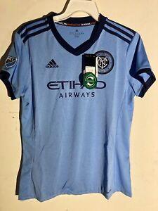 Adidas Women's MLS Jersey New York City Football Club Light Blue sz L