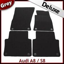 AUDI A8 LWB Mk2 D3 2003-2010 1300 G di lusso su misura tappetini auto moquette grigio