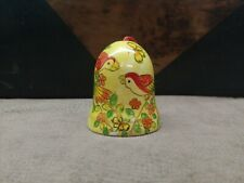 Vintage Bell with Painted Birds Marked on inner Rim