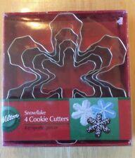 Wilton Snowflake Cookie Cutter Set Metal Cutters 4 Piece Set