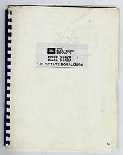 UREI 5547A-5549A  INSTALLATION OPERATING AND MAINTENACE MANUAL ( ORIGINAL BOOK )