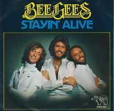 """Bee Gees 7"""" vinyl single Stayin' Alive / If I Can't Have You 1977"""