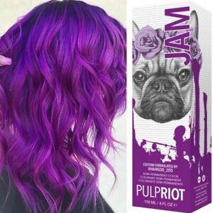 Pulp Riot Semi-Permanent Hair Colour Dye in 'JAM' 118 ml + GLOVES + CAP