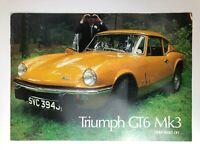 Vintage 1960's Triumph GT6 MK3 Sales Brochure