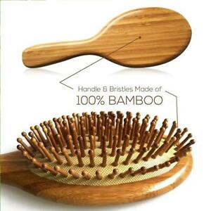High-quality Natural Wooden Handle Hair Comb Anti-static Scalp Comb 4 Hair Care