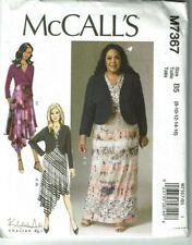 McCalls 7367 OOP Khaliah Ali Shrug and Dresses Pattern Sz 8-16 UC
