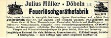 Julius Müller IENNERSDORF I. S. feuerlöschgeräthefabrik storica la pubblicità di 1896