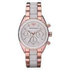 Emporio Armani Uhr AR5942 Damen Armbanduhr, Chronograph, Edelstahl/Silikon, Neu