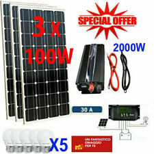 Kit Fotovoltaico 3KW Pwm Inverter 2000W Pannello Solare 300W regolatore 50 amp