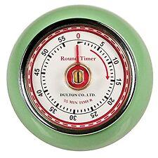 1950's Retro Mint Green Steel Magnetic 60 Minute Kitchen Timer Kitchen Gadget