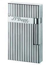 S.T. Dupont Ligne 2 silber gestreift 16817 Feuerzeug Neu statt 595,- €