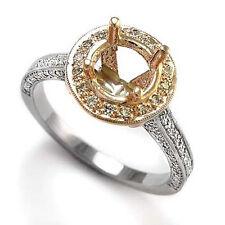 DIAMOND ENGAGEMENT RING SEMI-MOUNT 14K WHITE PINK GOLD