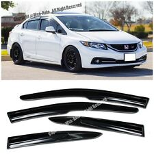 For 12-15 Civic 4Dr JDM Window Visors MUGEN II Rain Guard Deflectors FB6 SI