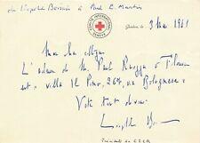 Léopold BOISSIER diplomate suisse croix rouge carte autographe signée