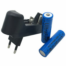 2 X 18650 Li-ion Battery 3800mAh 3.7V Rechargeable+ Charger EU Plug For Doorbell